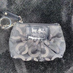 Mini Coach wristlet/change purse